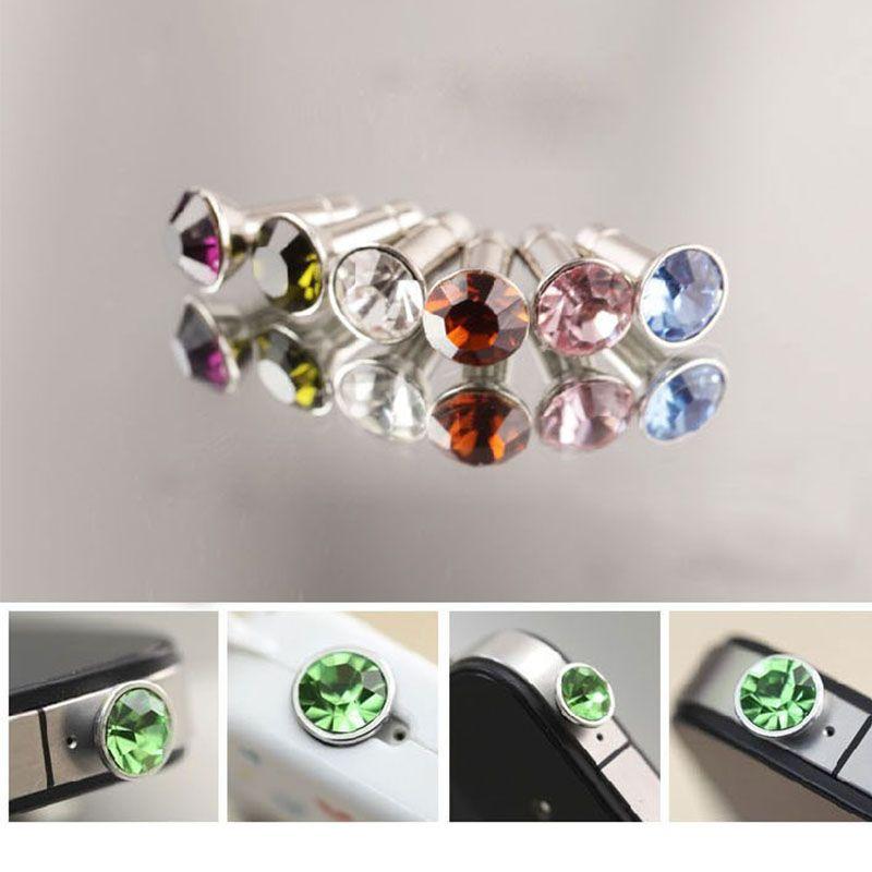 Universal 3,5 mm Crystal Diamond Anti Staub Stecker Staubdicht Kopfhörer Jack Headset Stopper Cap Gadgets Strass Stecker für Smartphone Tablet