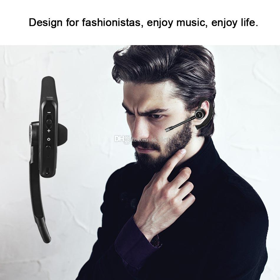 Hight Quality Bluetooth Headphone CSR 4.0 Business Stereo Earphone Headset with Mic Voice Control Earphones with Crystal Box
