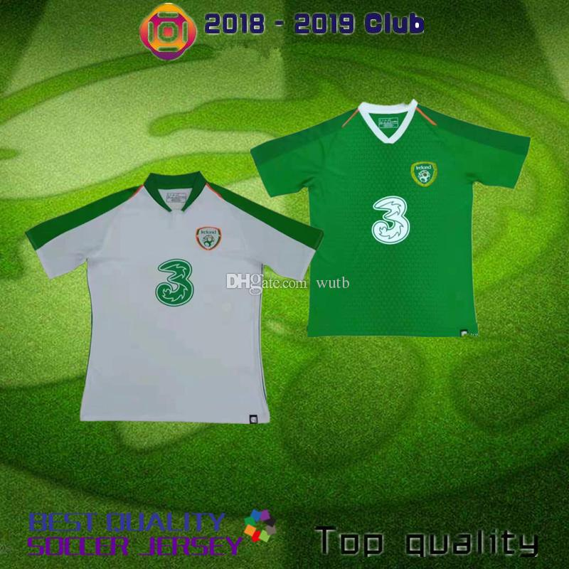 new product ee96b 66275 2018 Ireland Soccer Jerseys Republic of Ireland National Team Jerseys 2019  2020 KEANE Daryl Home blue Away white Customize Football Shirts