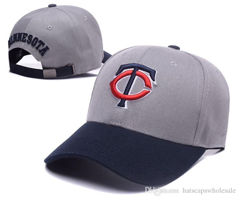 2018 New Cheap Twins Strapback Hats With Golf Visor In Grey Color  Embroidered Letter TC Logo Bones Sports Baseball Flat Summer Out Door Caps  Zephyr Hats ... b2135b75a89