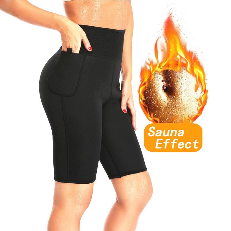 71af67895d NINGMI Slimming Sauna Pant Hot Thermo Neoprene Sweat Capris Fat Burner  Shapewear Fitness Body Shaper Control Panties Weight Loss