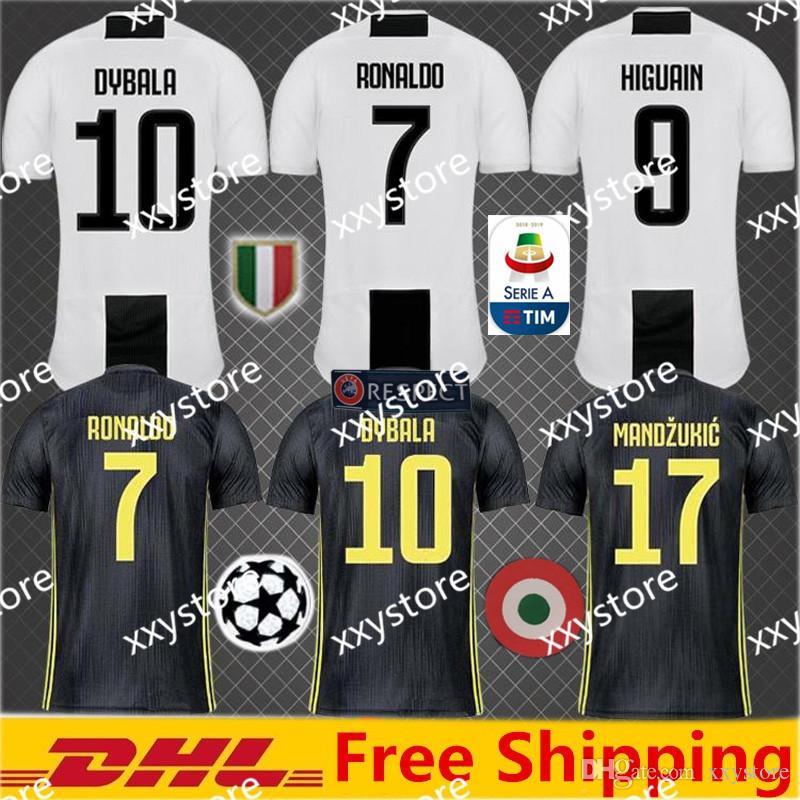 75503341869 2019 2019 Thai Quality RONALDO JUVENTUS Soccer Jersey Men 18 19 7  JUVE CR7  9 Higuain 10 Dybala Mandzukic Home Away Football Shirt Uniforms From  Xxystore