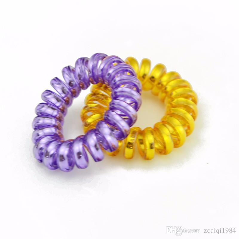 New Lovely Shining Bright Candy Mix Colore Telefono Wire Elastic Hair Bands Accessori capelli in gomma le donne