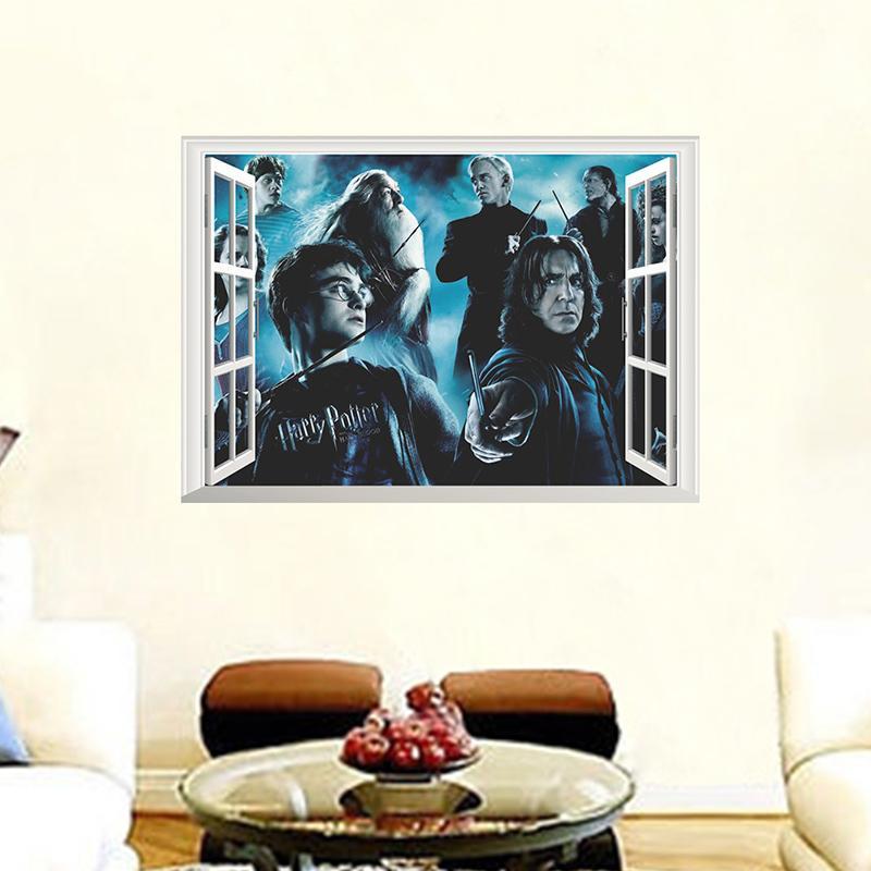 Acheter Harry Potter Stickers Muraux Decoratifs 3d Fenetre Poudlard