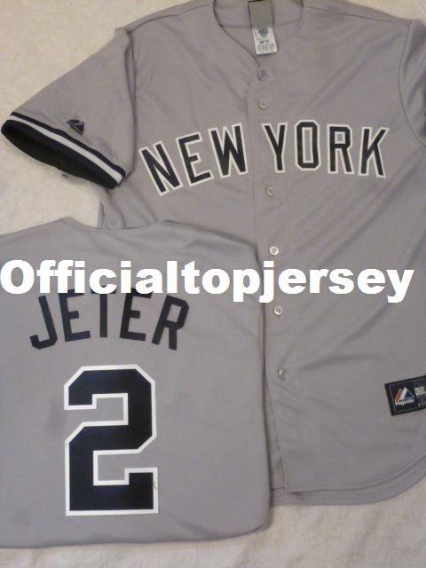 6aa3051af Cheap Custom MAJESTIC New York #2 DEREK JETER SEWN Baseball Jersey ...