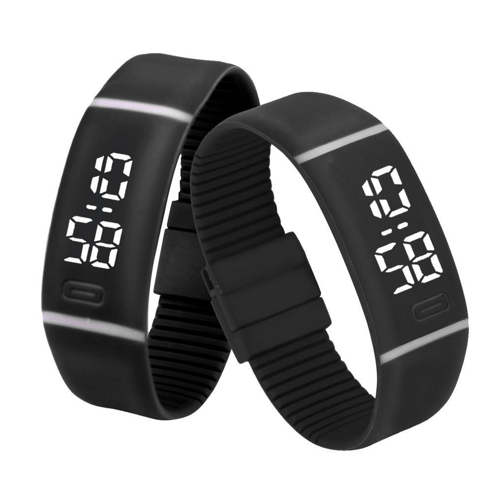 5cba31a38de6 Compre Relojes Deportivos Para Hombre Caucho LED Reloj Fecha Pulsera Reloj  Digital Excelente Montre Homme Reloj Superior Reloj De Pulsera Negro A  0.7  Del ...