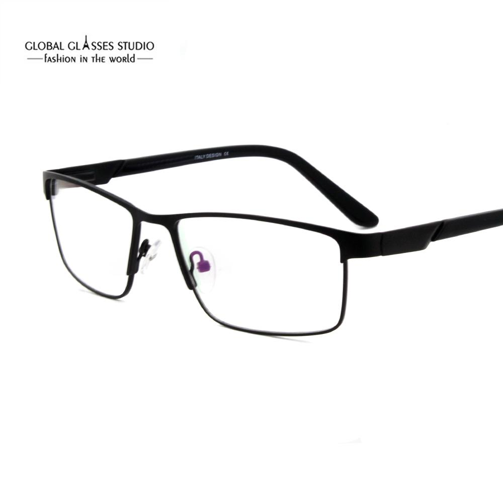 3a4e9be720c0 2019 Over Sized Fashion Half Frame Classic Design Men Metal Optical  Eyeglass Frames With Acetate Tip 5066 From Bojiban