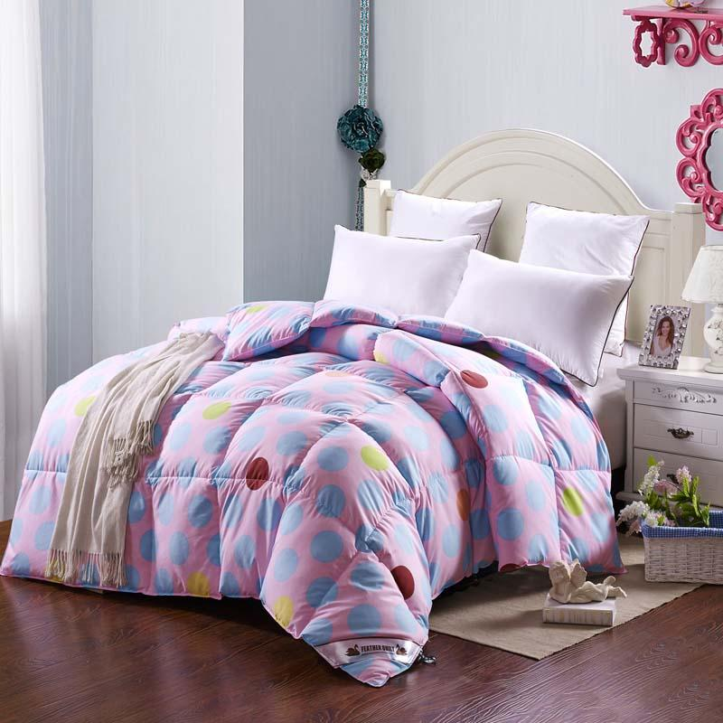 2018 Wholesale 95% Goose Down Comforter Double Quilted Blanket Quilt Pink  Color Bedding Filler/Filling King Queen Twin Size Duvet Super Warm From  Lifegreen, ...