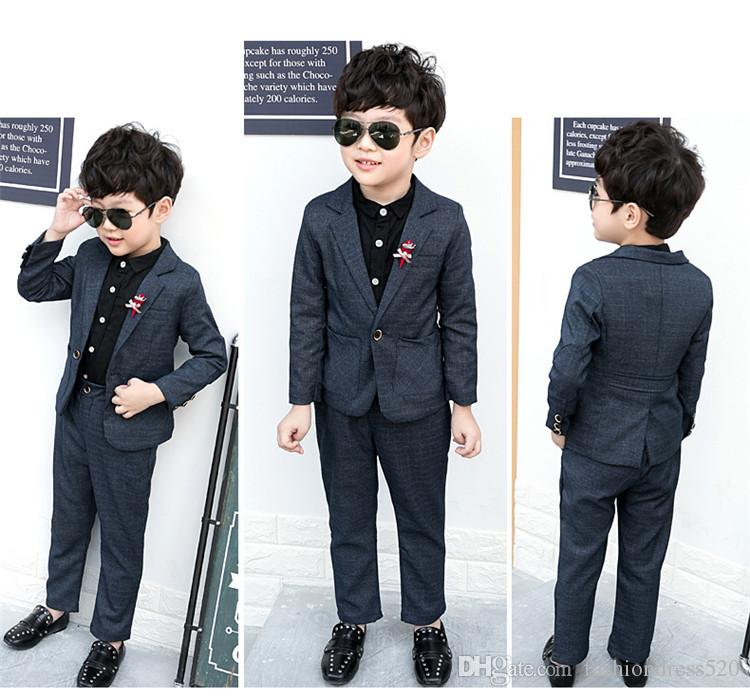 Sets Kids Boys Suits For Wedding Kids Blazer Boys Clothes Sets Formal  Classic Costumes Children Wedding Suits For Boy 3-8Y Wedding Suit Boys  Formal Tuxedos ... 4510d54a43eb