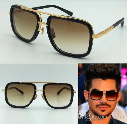 06631a63d2a Hot New Men Brand Designer Sunglasses Titanium Sunglasses Gold Plated Vintage  Retro Style Square Frame UV400 Lens Original Case Online with  47.91 Piece  on ...