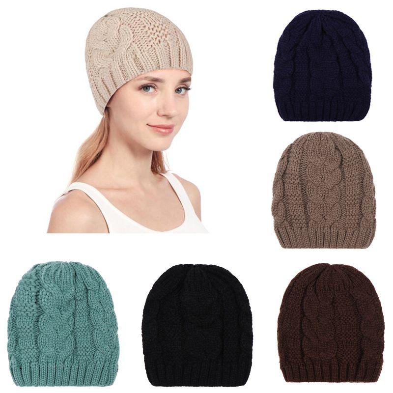 231befa78178 Sombrero de mujer Gorro de invierno Sombrero de crochet Gorro de punto