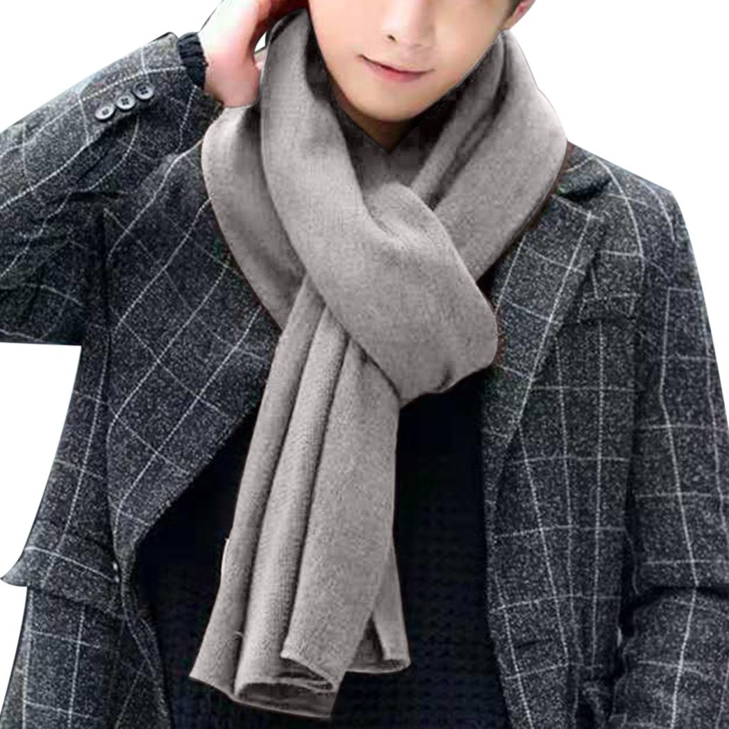 6f99ef85e3fe6 Fashion Men Scarf Knit Spring Autumn Unisex Thick Warm Winter Scarves Long  Size Male Cashmere Warmer Women's Scarves