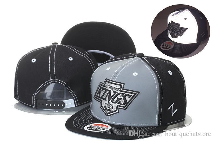 Men S Los Angeles Kings Zephyr Style Snapback Hat Logo Embroidery Sport NHL  Adjustable Hockey Caps Flat Baseball Hats In Black Color Hats Online Cap  Online ... ea487a6e6d9