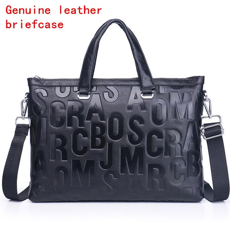 Factory Own Brand Men Bag Fashion Gentleman Leather Handbag Head Layer  Leather Fine Embossed Business Briefcase Leather Computer Briefcase Rolling  Briefcase ... e1aa16251cc8f