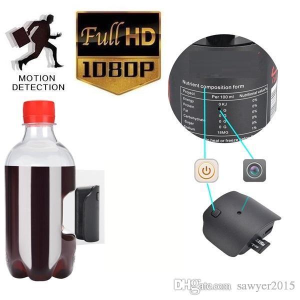 Su şişesi iğne deliği kamera K5 HD 1080 P Taşınabilir Plastik Içme Suyu Şişesi pinhole Kamera desteği Hareket Algılama Ev Güvenlik DVR