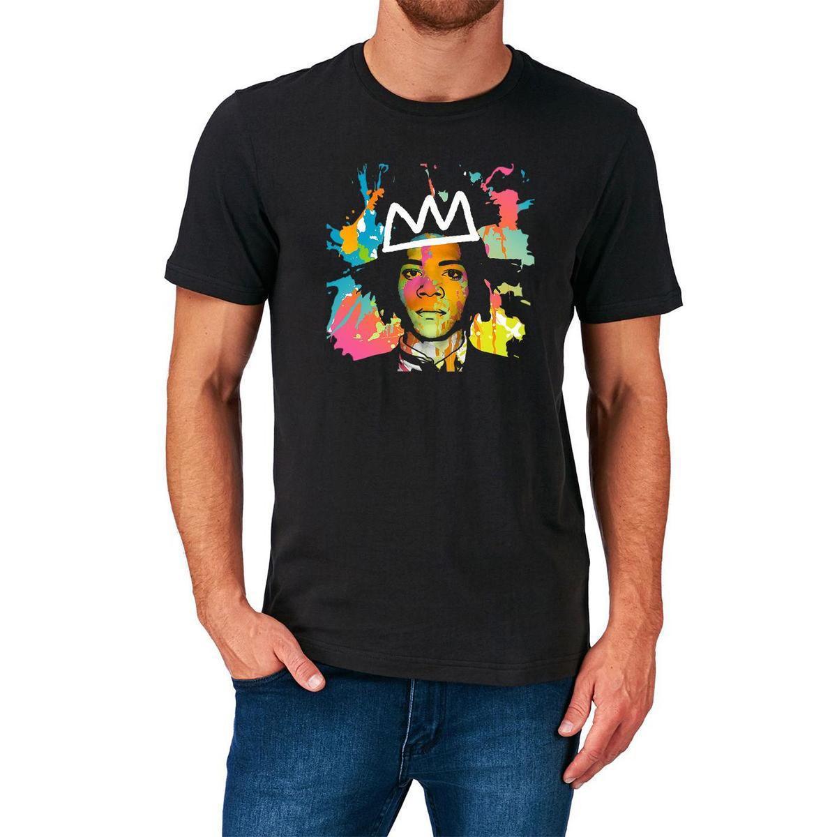Jean michel basquiat t shirt graffiti new york 70s 80s 90s white designer t shirts clever t shirt from yuxin04 13 8 dhgate com