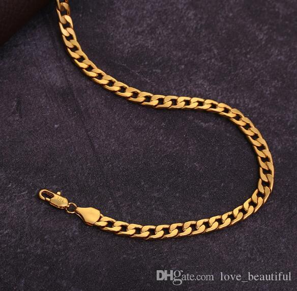 6 mm*16-30 inch Luxury mens womens Jewelry 18k gold plated chain necklace for men women chains Necklaces gifts accessories hip hop