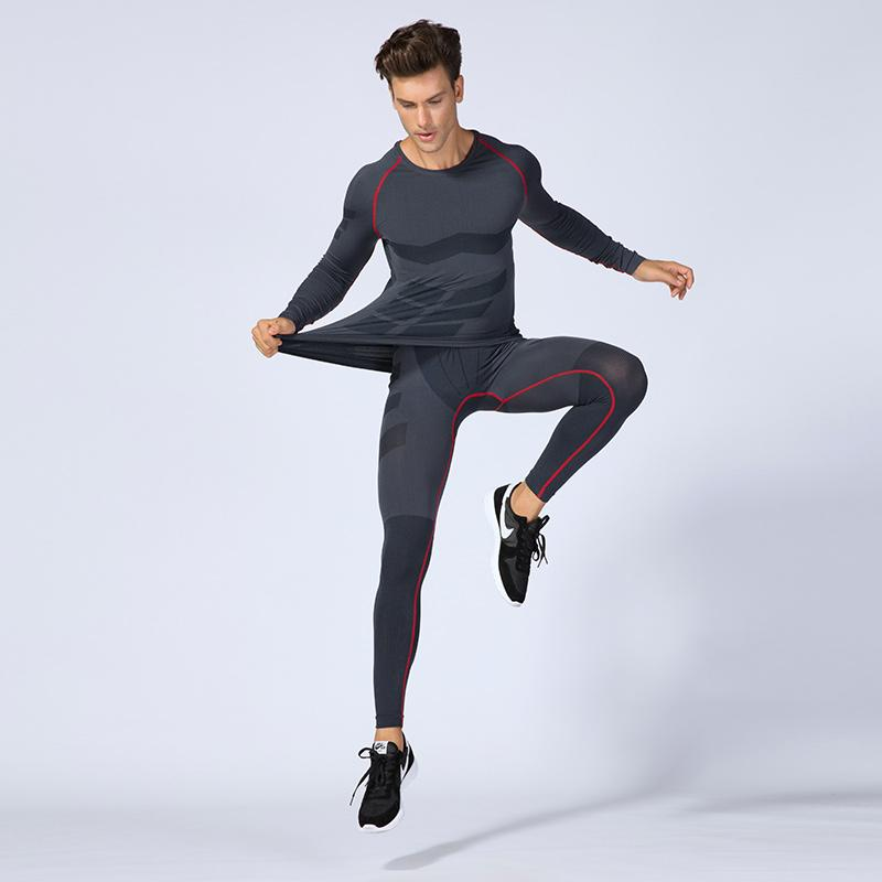 bca4399e181f5 2018 Brand New Men Shirt Fitness Sportswear Male Running Training Plus Size  Tights Black GYM Sport Suit Compression Running Set UK 2019 From Mtaiyang