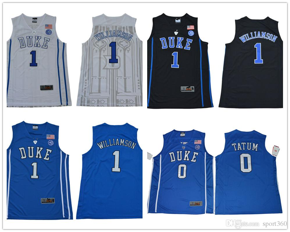 a41d9ee9fd19 2019 2019 College Basketball Duke Blue Devils 1 Zion Williamson 35 Marvin  Bagley III Jerseys 1 Kyrie Irving Black White Blue Stitched From Sport360