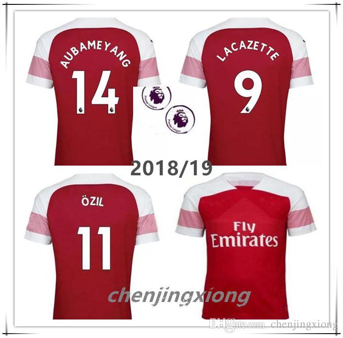 fe5522a56 2018 AUBAMEYANG Soccer Jersey OZIL MKHITARYAN Football Shirt 18 ...