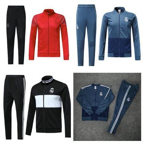 55323ffa7 2019 2018 2019 soccer jacket real madrid tracksuit bale ramos