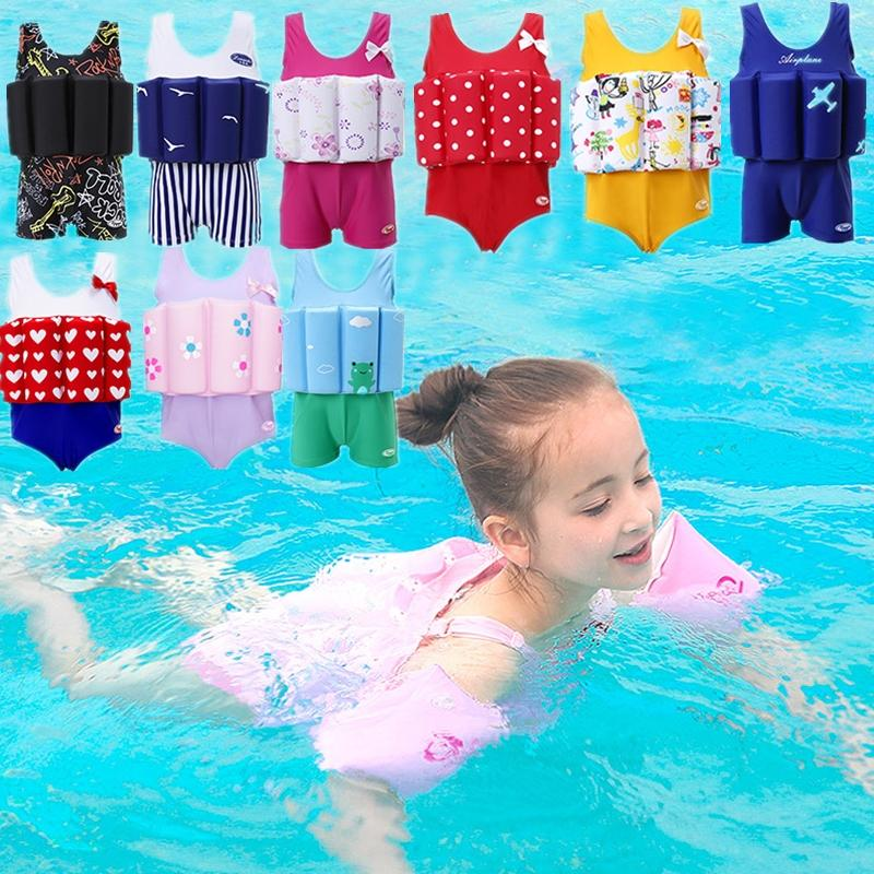 ebe0b64249 2019 2018 New Baby Kids Buoyant Swimming Suits Detachable One Piece  Swimwear Swimsuit For Boys Girls Swim Training Supplies From Fkansis, $41.5  | DHgate.Com