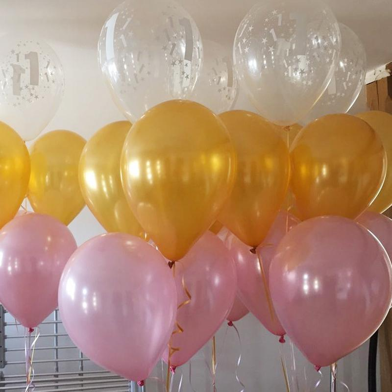 Latex Metallic Balloons Gold Pink Latex Balloons for Birthday Festival Party Decoration Event Party Supplies