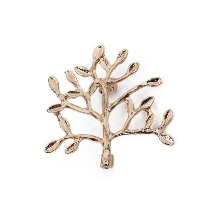 Satın Al Moda Ağaçlar Dalları Broş Pins Unisex Takı Metal Siyah