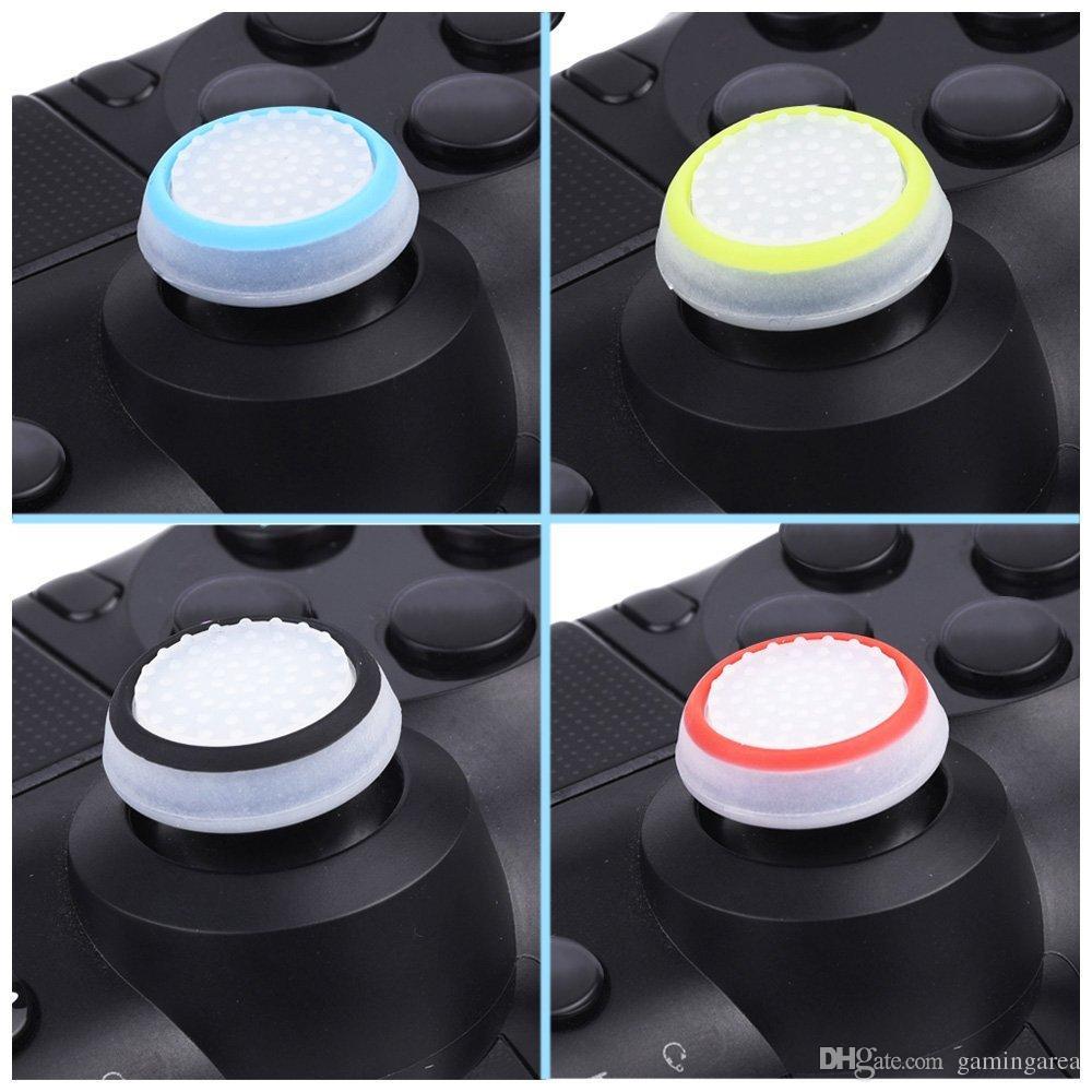 المزدوج اللون سيليكون المقود كاب الإبهام قبضة عصا القبضات قبعات القضية ل ps4 ps3 xbox one 360 wiiu تحكم dhl فيديكس ems الشحن المجاني