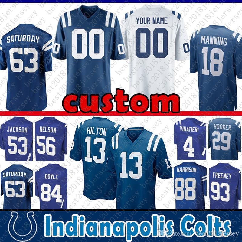 2018 88 Marvin Harrison Custom Jersey Indianapolis Colts 29 Malik