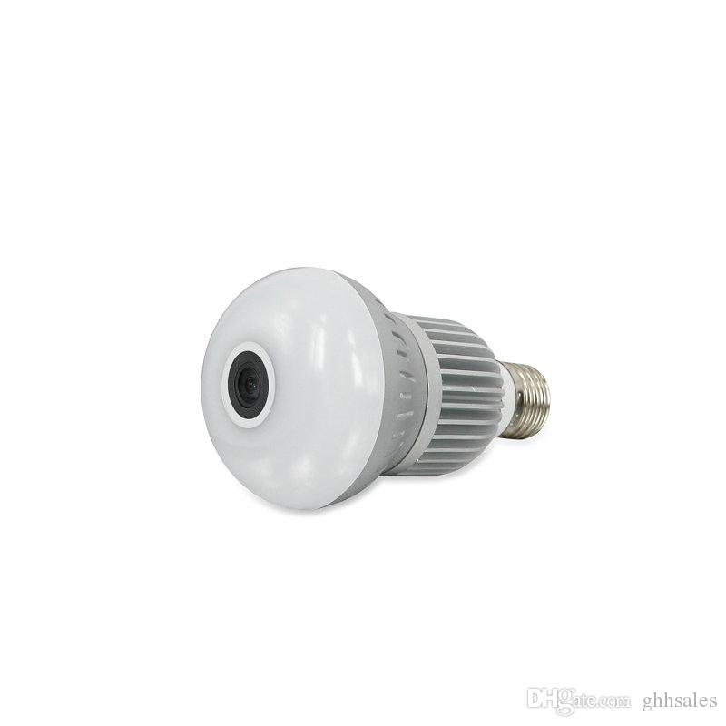 360Eye S 1080P Wireless Bulb Light IP Camera WIFI Fisheye Full View Night Vision Mini CCTV 1.3MP Camera Home Security DHL Free