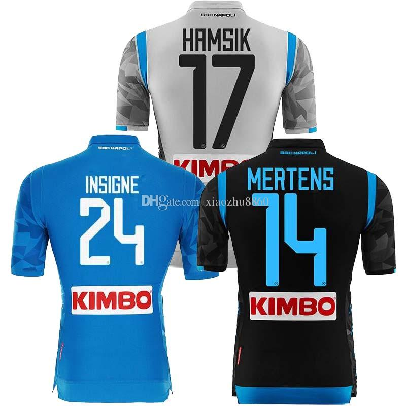 Compre Novo 2019 Napoli Camisa De Futebol 18 19 Nápoles 2018 Casa HAMSIK  INSIGNE MERTENS CALLEJON Camisas Futbol Camisas Maillot Camisa De Futebol  De ... 636eacdf35114