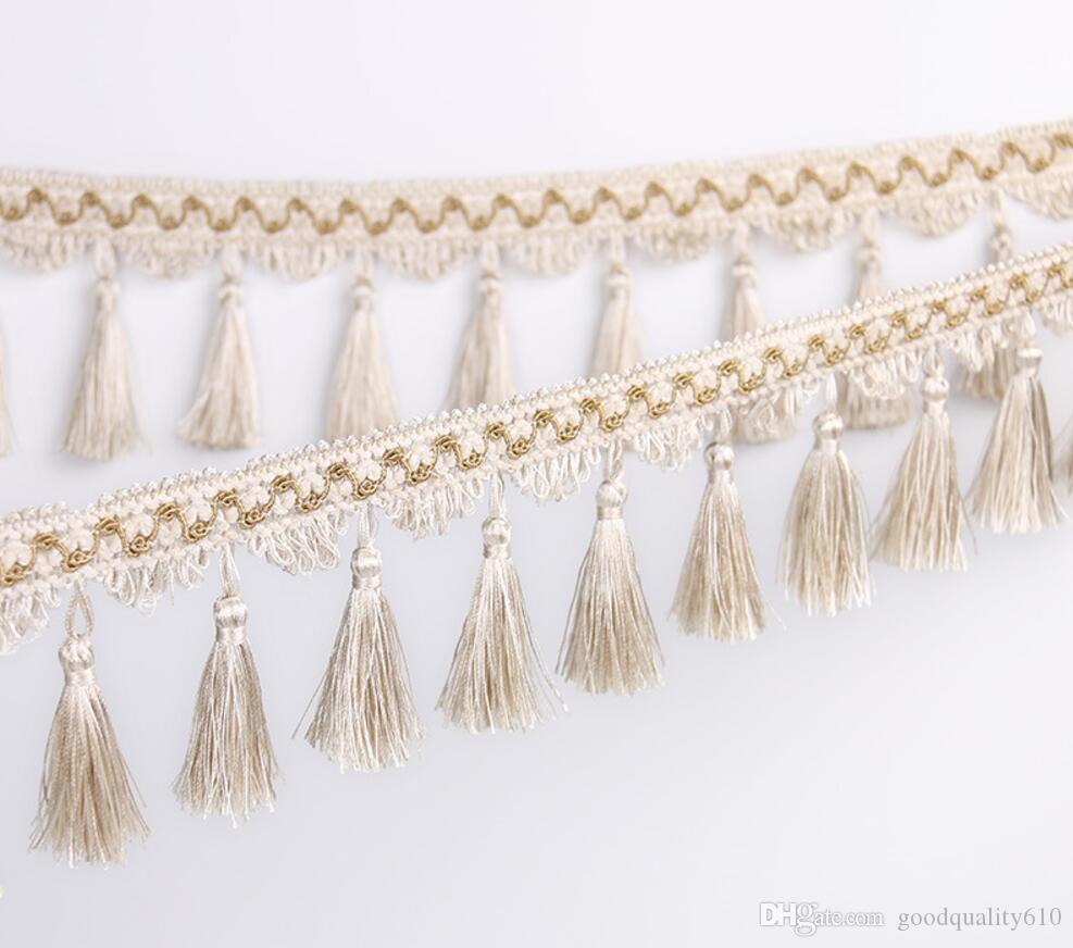 12Meter Tassel Hanging Pendant Hanging Lace Trim Ribbon For Window curtains wedding Party Decorate Apparel Sewing DIY