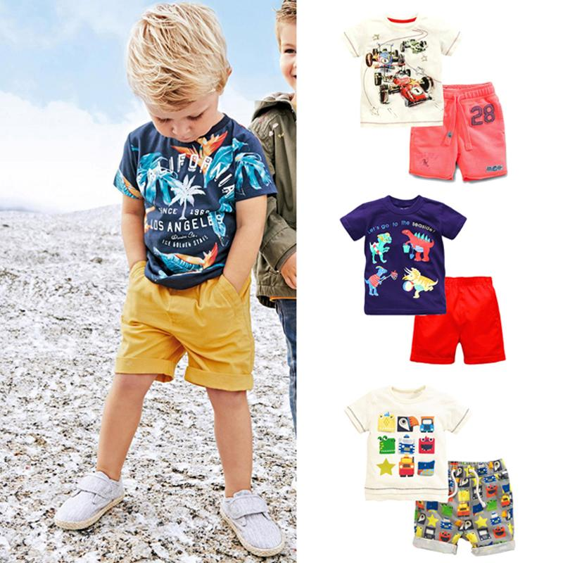 cb75119f68fe 2019 New 2018 Brand 100% Cotton Summer Baby Boys Clothes Set ...