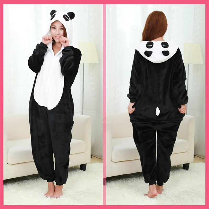 c148a06d8080ae Pijamas de Flanela de natal Mulheres Panda Pijama Animal Dos Desenhos  Animados Adulto Panda Traje Sleepwear Bonito Top Quality Pigiama Donna
