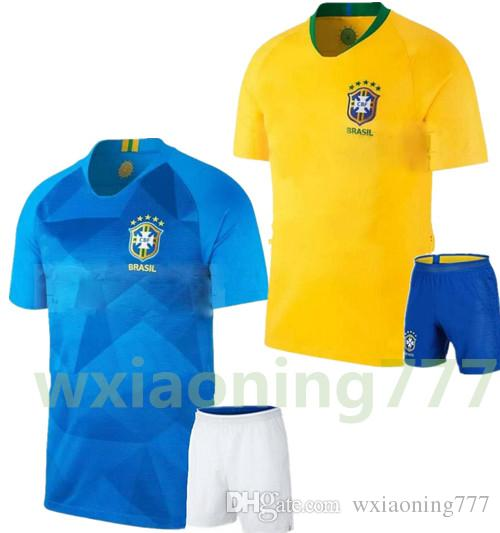 03dd878c0 2019 2018 World Cup Brazil Kit Home Soccer Jersey Brasil NEYMAR JR Soccer  Shirt COUTINHO G.JESUS Brazil Home Yellow Football Uniforms From  Wxiaoning777