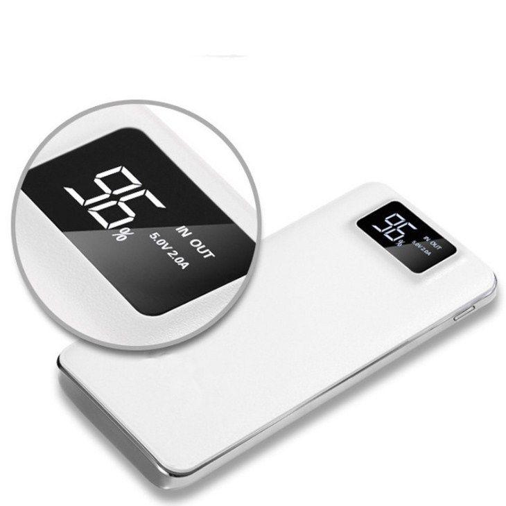 20000mAh-Netzbank tragbare externe Notfall-Backup-Batterieladegerät Universal-Mobiltelefon Powerbank USB-Ladegeräte-Pack für Handys