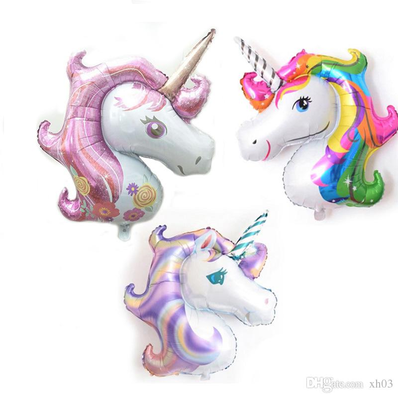 Birthday Party Decorations Kids Foil Balloons New Latex Unicorn