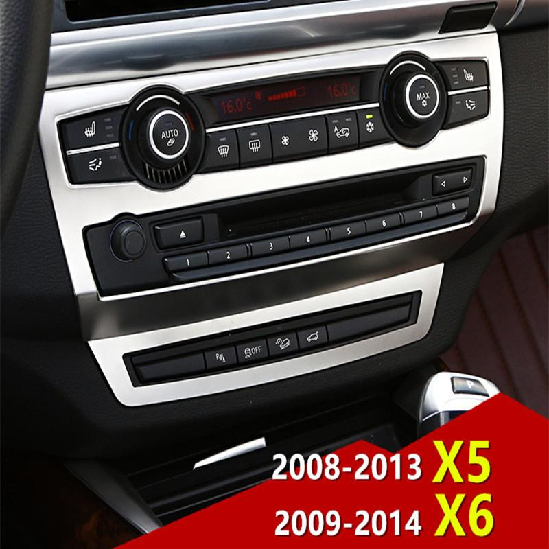 Truck Interior Accessories >> Middle Console Cd Panel Frame Decorative Cover Trim Stainless Steel