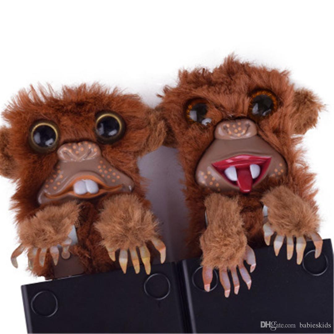 Nuevo Creativo Divertido Mono Juguete Spoof Monkey Toys Pet Prankster Jitters Piel Plástica Marrón Mascota Sorpresa Juguetes Piel Plástica Dedo Juguetes
