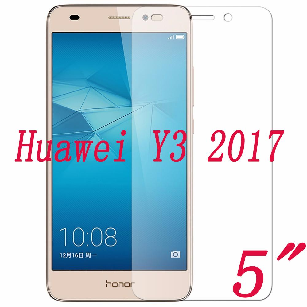 2PCS NEW Screen Protector phone For Huawei Y3 2017 5 0 Tempered Glass  SmartPhone Film Protective Cover