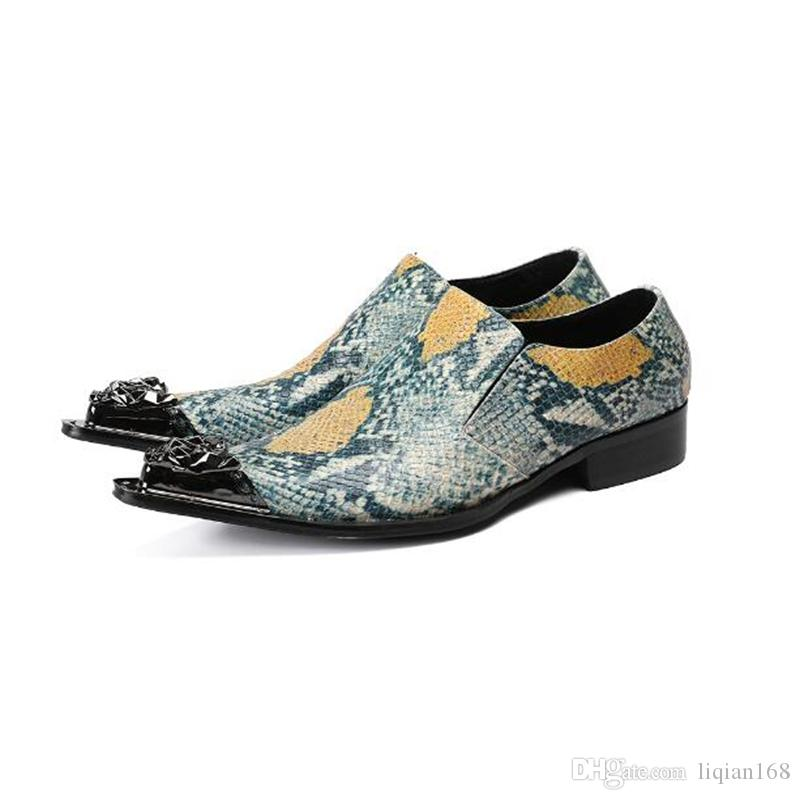Fashion Handmade Men Espadrilles Dress Shoes Metal Chain Wedding Office Shoes Men Casual Shoes Colorful Flat size 38-46