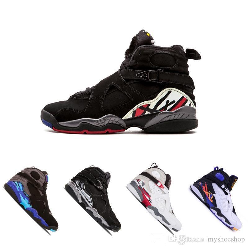 cbc8e5b0d74f Designer 8 8s Top Aqua Men Basketball Shoes Black Chrome Playoffs ...