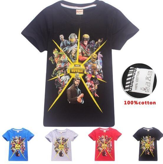 Compre Marca De Verano Al Por Menor De Algodón Fortnite Boys Camiseta  Battle Royale Niños Niñas De Manga Corta Lindo Tops Game Boy Camiseta  Divertida Ropa A ... 88938d28c2c2f