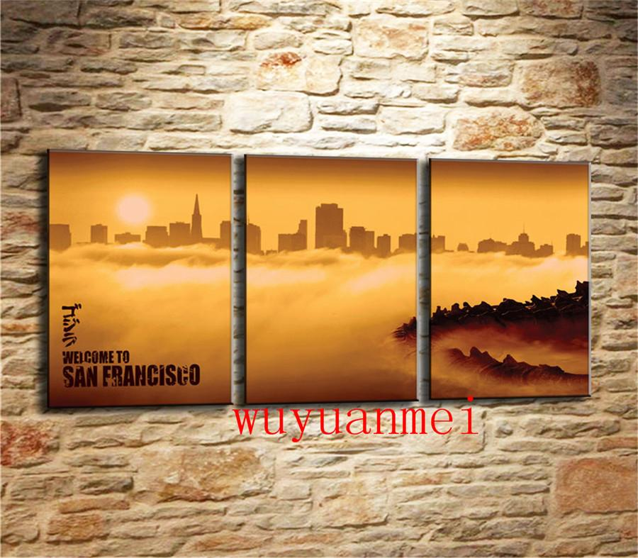 2019 Welcome To San Francisco Home Decor HD Printed Modern Art Painting On Canvas Unframed Framed From Wuyuanmei 1709