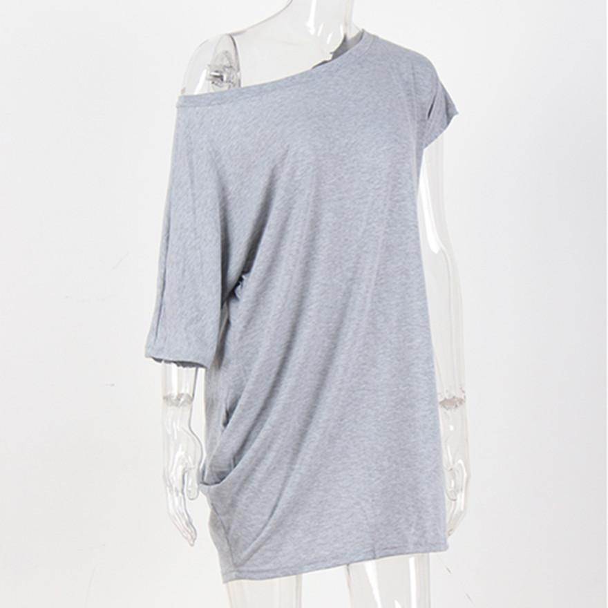 66f0296585b873 Hot Sale Ladies Longer Sexy Casual Cotton T Shirt New Fashions Solid  Knitted Asymmetrical Female Tee Women Harajuku Elegant Tops Limited T Shirts  24 Hours ...
