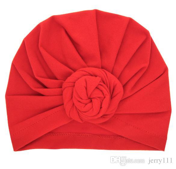 Bambino Top nodo turbante rosa cappello Toddler morbido turbante stile vintage retrò accessori capelli ragazze ragazzi avvolgere la testa LC697