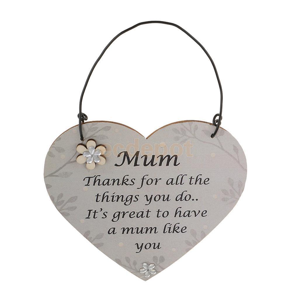 Satın Al Anne Yaptığınız Her şey Için Teşekkürler Ahşap Plak Kalp