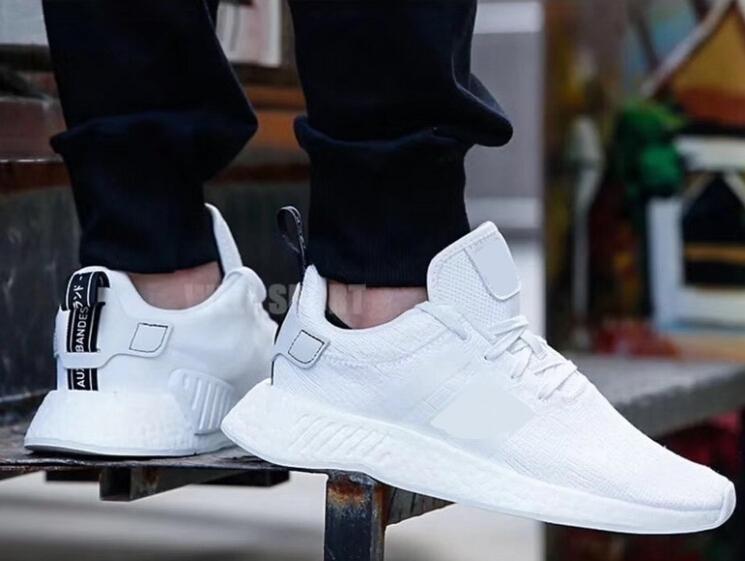 uk availability eca77 3b233 2017 93 NMD R2 Runner Shoes NNM_R1 Monochrome R1 Mesh Primeknit Triple  White Black NMD XR1 PK Women Men Running Shoes Sneakers