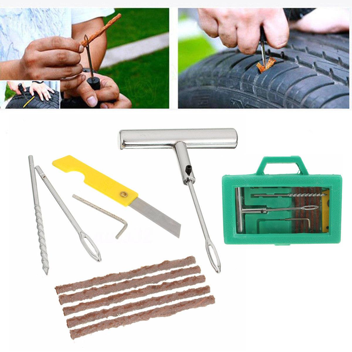 Tire Repair Kit >> Tire Repair Kit Flat Tire Tyre Repair Car Truck Bike Motorcycle Home Plug Patch Top Selling